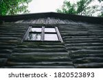 Old Log House Top Of Wooden...