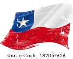a grunge chilean flag in the... | Shutterstock .eps vector #182052626