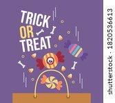 cute halloween trick or treat... | Shutterstock .eps vector #1820536613