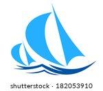 Two Sailboats Or Yachts Racing...