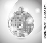 disco ball. silver color with... | Shutterstock . vector #182056124