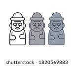 jeju dol hareubang vector icon...   Shutterstock .eps vector #1820569883