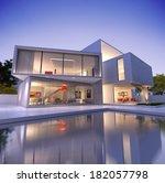 external view of a contemporary ...   Shutterstock . vector #182057798