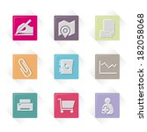 vector office and business icons