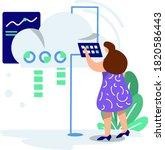 illustration cloud hosting ...