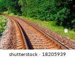empty railway | Shutterstock . vector #18205939