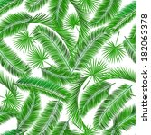 tropical palm tree seampless... | Shutterstock . vector #182063378