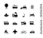 transportation pictograms... | Shutterstock . vector #182063504