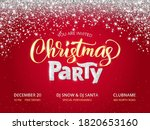 christmas party poster template.... | Shutterstock .eps vector #1820653160