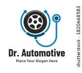 doctor automotive vector logo... | Shutterstock .eps vector #1820668583