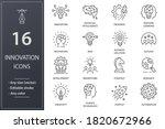 innovation line icons. set of... | Shutterstock .eps vector #1820672966
