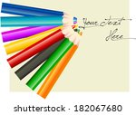 group of eight different color...   Shutterstock .eps vector #182067680