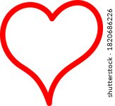 the red heart is a symbol of... | Shutterstock .eps vector #1820686226