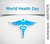 abstract world health day... | Shutterstock .eps vector #182070278