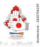 indian festival of navratri... | Shutterstock .eps vector #1820706239