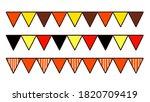 autumn halloween flag garland... | Shutterstock . vector #1820709419