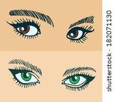 Illustration of a set of women's eyes.