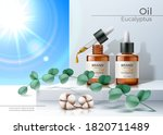 vector realistic oil pipette... | Shutterstock .eps vector #1820711489