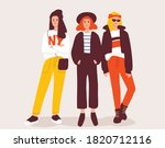 urban teenagers.young fashion... | Shutterstock .eps vector #1820712116