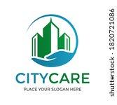 city care vector logo template. ... | Shutterstock .eps vector #1820721086