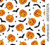vector halloween seamless...   Shutterstock .eps vector #1820723276