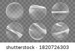 transparent round adhesive... | Shutterstock .eps vector #1820726303