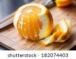 cleared of peel orange  cooking ... | Shutterstock . vector #182074403