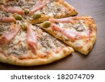italian pizza slice | Shutterstock . vector #182074709