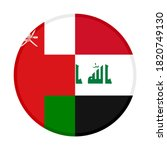 round icon with oman and iraq...   Shutterstock .eps vector #1820749130