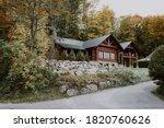 Wooden Mountain House Built...