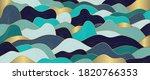 luxury gold line art wallpaper. ... | Shutterstock .eps vector #1820766353