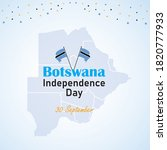 botswana independence day....   Shutterstock .eps vector #1820777933