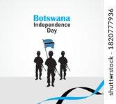 botswana independence day....   Shutterstock .eps vector #1820777936