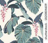 tropical seamless pattern with...   Shutterstock .eps vector #1820804609