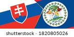 slovakia and belize flags  two...   Shutterstock .eps vector #1820805026
