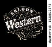 western label typography...   Shutterstock .eps vector #1820813873