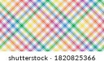 rainbow lgbt flag colors on...   Shutterstock .eps vector #1820825366