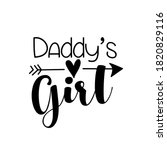 daddy's girl  text with arrow... | Shutterstock .eps vector #1820829116