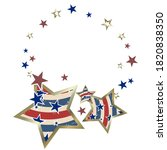 american patriotic stars and...   Shutterstock .eps vector #1820838350