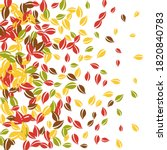 falling autumn leaves. red ... | Shutterstock .eps vector #1820840783