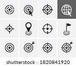 target icons set. vector...   Shutterstock .eps vector #1820841920