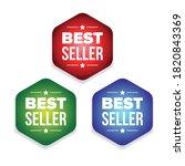 bestseller colorful label set... | Shutterstock .eps vector #1820843369