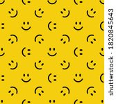 seamless pattern with smiling... | Shutterstock .eps vector #1820845643
