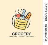 vector logo idea for grocery... | Shutterstock .eps vector #1820851199