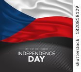 czech republic happy...   Shutterstock .eps vector #1820858129