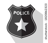 police badge black and white ... | Shutterstock .eps vector #1820862323