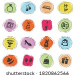 8 march web icons for user... | Shutterstock .eps vector #1820862566
