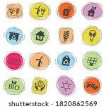 alternative energy vector icons ... | Shutterstock .eps vector #1820862569