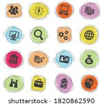 business management and human... | Shutterstock .eps vector #1820862590