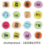 office color vector icons for... | Shutterstock .eps vector #1820862593